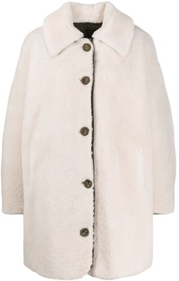 Yves Salomon Army single-breasted oversized coat