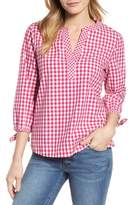 Vineyard Vines Mixed Gingham Tie Sleeve Top