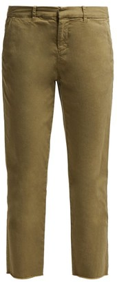 Nili Lotan Montauk Cotton-blend Twill Trousers - Womens - Khaki
