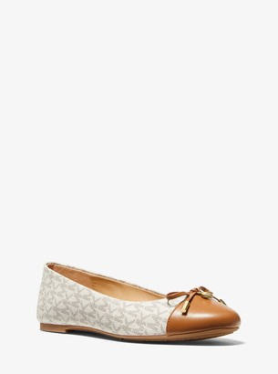 MICHAEL Michael Kors Melody Logo and Leather Ballet Flat