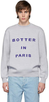 Melange Home Botter Grey Jacquard Sweatshirt