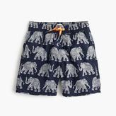J.Crew Boys' swim trunk in elephant print