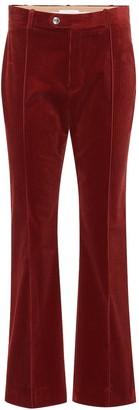 Chloã© Mid-rise flared corduroy pants