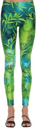 Versace Palm Print Leggings