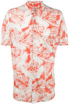 Majestic Filatures palm print shirt - men - Linen/Flax - S