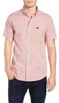 RVCA Men's 'That'Ll Do' Slim Fit Microdot Woven Shirt