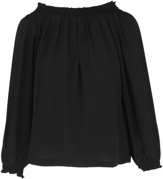 Maje Loriset Off-The-Shoulder Silk Top