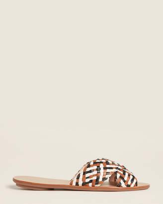 Loeffler Randall Timber & Black Claudie Woven Slide Sandals