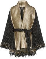 Etro Fringed Wool-blend Bouclé Wrap - Black