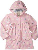 Hatley Metallic Hearts Raincoat (Toddler/Kid) - Pink - 6