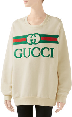 Gucci Oversized Logo-Embroidered Sweatshirt