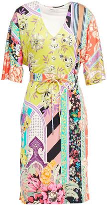 Etro Printed Silk-jersey Wrap Dress