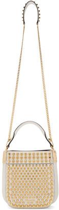 Prada White Small Studded Margit Bag