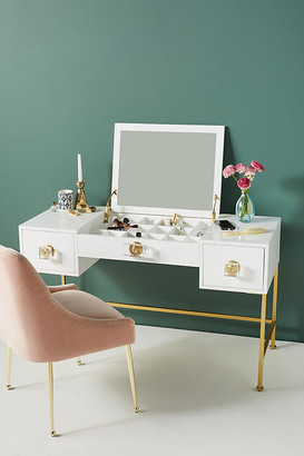 Lacquered Regency Makeup Vanity By Tracey Boyd in White Size ALL