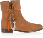 Aquazzura Coachella embellished suede ankle boots