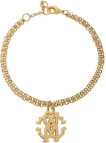 Roberto Cavalli RC Icon Golden Metal Bracelet
