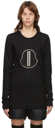 Rick Owens Black Moncler Edition Logo Long Sleeve T-Shirt