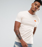 Ellesse Muscle Fit T-Shirt With Small Logo In Stone