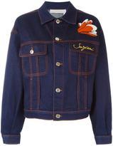 See by Chloe flower applique denim jacket - women - Cotton/Spandex/Elastane - 40