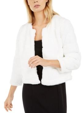 Calvin Klein Faux-Fur Shrug Jacket