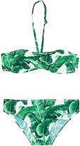 Dolce & Gabbana Banana-Leaf-Print Halter Bikini-GREEN
