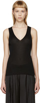 Calvin Klein Collection Black Deep-v Amalia Tank Top