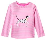 Joules Pink and Stripe Dalmatian Applique Tee
