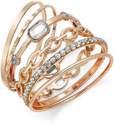 INC International Concepts Gold-Tone Crystal Enhanced Multi-Bangle Bracelet, Created for Macy's