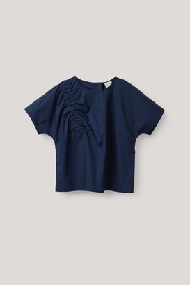 Cos Elastic-Detailed Cotton Top