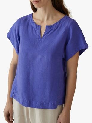 Toast Garment Dye Linen Kaftan Top, Blue