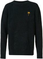 The Elder Statesman cashmere chest embroidery jumper