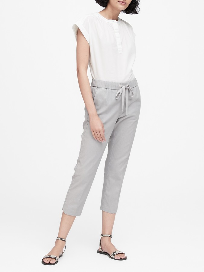 Banana Republic JAPAN EXCLUSIVE Hayden Tapered-Fit Linen-Cotton Pant