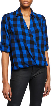 Rag & Bone Camille Plaid Button-Front Shirt