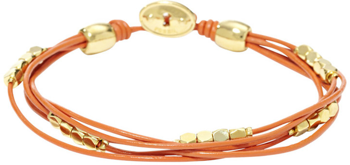 Fossil Dainty Wrist Wrap - Orange