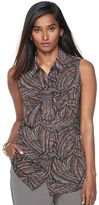 Apt. 9 Women's Split-Back Sleeveless Blouse