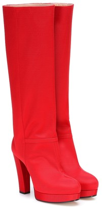 Gucci Ribbed platform knee-high boots