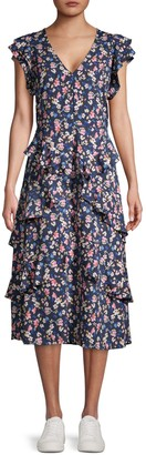 Rachel Roy Floral Ruffled Fit-&-Flare Dress