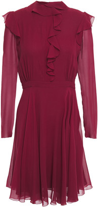 Giambattista Valli Ruffle-trimmed Silk-georgette Mini Dress