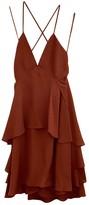 A.L.C. Burgundy Silk Dress for Women