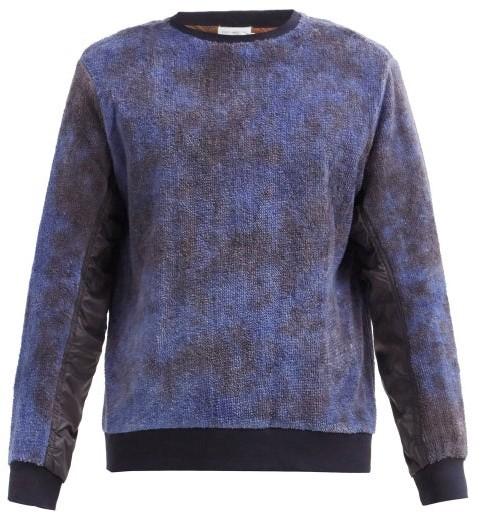 Post-Imperial Panelled Tie-dye Cotton-terry Sweatshirt - Brown