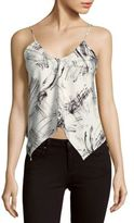 Style Stalker Dialogue Printed Asymmetric Camisole
