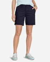 "Eddie Bauer Women's Slightly Curvy Legend Wash Stretch Twill 7"" Shorts"