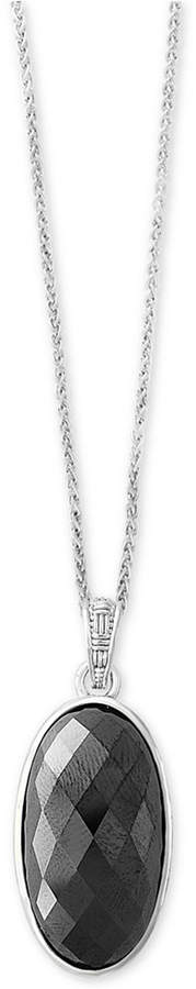 Effy Hematite (28 x 15mm) Pendant Necklace in Sterling Silver