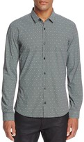 HUGO Ero Skull Check Slim Fit Button Down Shirt