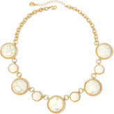 JCPenney MONET JEWELRY Monet White Stone Gold-Tone Collar Necklace
