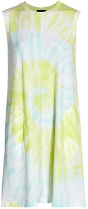 ATM Anthony Thomas Melillo Tie-Dye Tank Dress