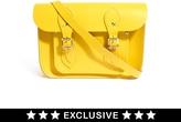 "Cambridge Silversmiths Satchel Company Exclusive To ASOS Canary Yellow 11"" Satchel"