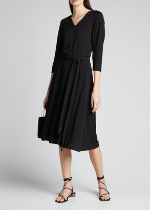 Lafayette 148 New York Evans Midweight Matte Jersey Dress