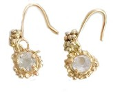 Kaia White Sapphire Drop Earrings In Solid 9Ct Gold