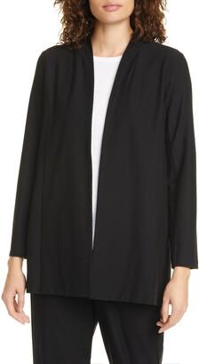 Eileen Fisher Open Front Shawl Jacket